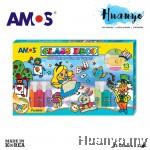 Amos Glass Deco Paint 22ML 13 Colours Set