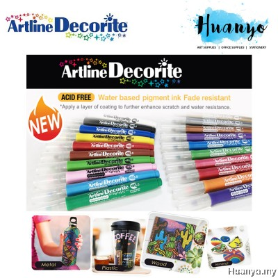 Artline Decorite Multi Surface Marker - Bullet Tip (1.0MM)