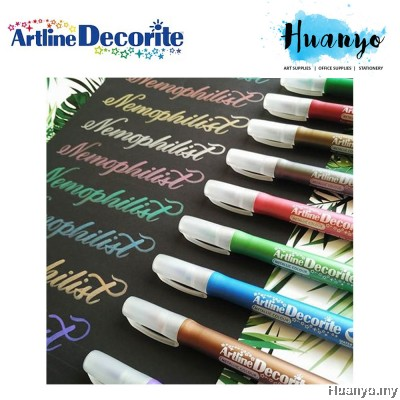 Artline Decorite Multi Surface Marker - Brush Tip