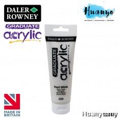 Daler Rowney Graduate Acrylic Paint Colour 120ML (No.020 Pearl White)