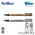 Artline 999XF 0.8mm Metallic Paint Marker (Gold, Silver)