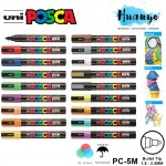 Uni Posca Water-Based Poster Colour Bullet Medium Tip Paint Marker PC-5M (Per Pcs, List 1/2)