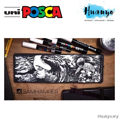 Uni Posca Water-Based Poster Colour Bullet Extra Fine Tip Paint Marker PC-1M