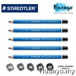 Staedtler Mars Lumograph Jumbo 100J Drawing Sketching Pencil (HB,2B,4B,6B,8B)