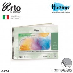Campap Arto Fabriano Wire-O Watercolour Painting Book Cold Pressed Paper 300GSM A4/A3