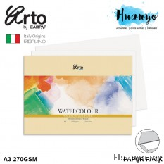 Campap Arto Fabriano Watercolour Paper A4 / A4+/ A3 270GSM 12 Pcs (25% Cotton-Extra Rough)