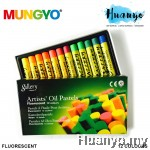 Mungyo Gallery Artists' Oil Pastels Fluorescent 12 Colours