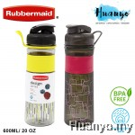 Rubbermaid Design Series BPA Free Plastic Water Drinking Bottle with Grip (600mL)