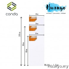 Conda Artist Stretch Rectangular Canvas (30 X 60CM, 30 X 80 CM, 30 X 100CM)