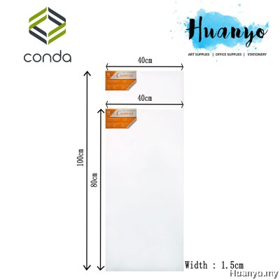 Conda Artist Stretch Rectangular Canvas (40 X 80 CM, 40 X 100CM)