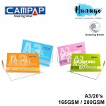 CAMPAP Drawing Paper Pad Block A3 Size 20 Sheets (165GSM /200GSM )