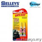 Selleys Supa Glue Super Adhesive Glue / Gam Gajah Value Pack (Set of 2)