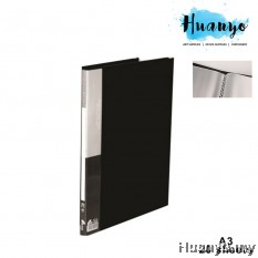 KoBest PVC Hard Cover Plastic Clear Book Holder Folder A3 (20 Pockets)