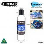 Global Colours Acrylic Fluid Painting Pouring Medium - 1 Litre