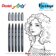 Pentel Pointliner S20P Technical Drawing Drafting Sketching Pen (0.05/0.1/0.3/0.5/0.8MM)