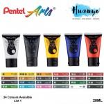 Pentel Arts Acrylic Colour Paint 28ML (List 1)