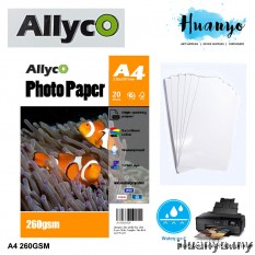 Allyco Photo Glossy Paper A4 260gsm (20 Sheets)