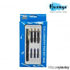 Topsky Calligraphy Fountain Nib Pen (Set of 4) [Free 3 Ink Refills]