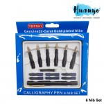 Topsky Calligraphy Fountain Nib Pen (Set of 6) [Free 6 Ink Refills]