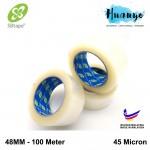 SB Tape Packaging Transparent Clear OPP BOPP Tape 48MM x 100 Meter (Per Pcs)
