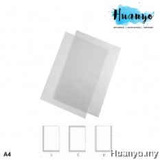 Thick Transparent Clear C / U / L Shape Pocket File Folder Holder (A4)