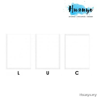 Thick Transparent Clear C / U / L Shape Pocket File Folder Holder (A4)