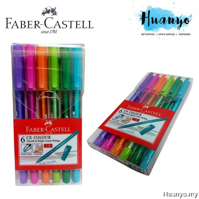 Faber-Castell CX Colour Ball Pen Wallet (Set of 6 / Set of 10)