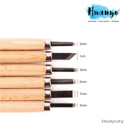 Wood Carving Chisels Tool Knife Tool Craft Set (Set of 6)