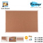 Wooden Frame Notice Bulletin Cork Board (20 x 30 / 30 x 40 /40 x 60 CM)