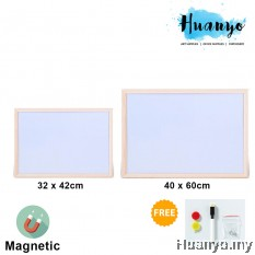 Sanko Star Natural Wooden Frame Portable Thin Magnetic White Board ( 32 x 42 / 40 x 60 CM)