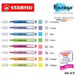 [Free Online Art Journaling Class worth RM 75] Stabilo Swing Cool Original Colour Highlighter Highlight Pen (Set of 8)