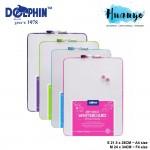 Dolphin Beready Portable Mini Magnetic Dry Erase White Board Set ( S - 21.5 X 28CM / M - 24 x 34 CM)