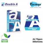 Double A Everyday A4 White Copier Printing Paper 70gsm 500 Sheets/Ream