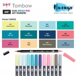 [New Pastel Series Color] Tombow ABT Dual Tips Drawing & Calligraphy Colour Brush Pen (Per Pcs)