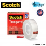3M Scotch 600 Transparent Adhesive Tape (19MM X 33M)