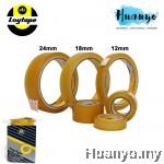 "Loytape Cellulose Sello Tape 3"" core 40 meter length ( 12mm / 18mm / 24mm) [Per pcs]"