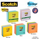 3M Post-it Super Sticky Notes World of Colour Series [3 x 3 inch, 5 Pads/Pack, 90 sheets/Pad]