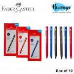 Faber-Castell Retractable RX Gel Pen (0.5mm / 0.7mm) [Black, Blue , Red, Box of 10pcs]