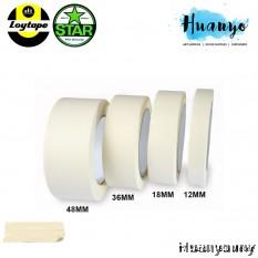 Loytape Star Crepe Paper Masking Tape 17 Yard (12MM / 18MM / 24M / 36MM / 48MM / 60MM) [Per Pcs]