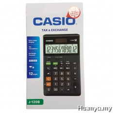 Casio J-120B Tax & Exchange Calculator