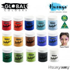 Global Colours Face and Body Paint (45ml) [For Holloween, Party, Dance,Marathon]