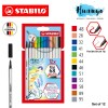 Stabilo Premium Calligraphy Drawing Water Colour Fibre Brush Tip Pen 68 Brush (Set of 12)