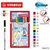 Stabilo Premium Calligraphy Drawing Water Colour Fibre Brush Tip Pen 68 Brush (Set of 12)