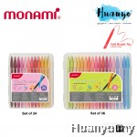 Monami Plus Pen 3000 Fineliner Flexible Felt Brush Tip 0.4MM [Set of 24 / 36]