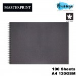 Masterprint Acid Free Wire O Wire-O Sketch Book A4 Landscape 120gsm/100 sheets