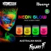 Global Colours BodyArt Fluorescent Neon Glow in the Dark Face and Body Paint (45ml) [For Holloween, Party,Marathon]