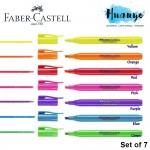 Faber-Castell Textliner Super Flouresent Colour Highlighter (Set of 7)