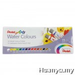 Pentel Art Water Colours 15 Colours Set
