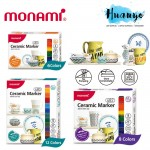 Monami Home Decor & DIY Ceramic Marker 480 / 482 (Set of 6 / 8 / 12) [For Ceramic Mugs, Dishes and Bowls]