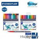 Staedtler Double-ended Twin Tip Water Colour Brush Pen (Set of 18 / 36)